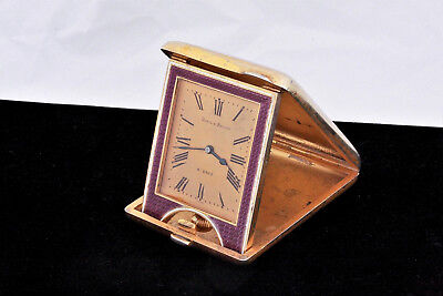 AU1038.69 • Buy C. 1900 Udall & Ballou Gilt Sterling Guilloche Enamel 8 Day French Travel Clock