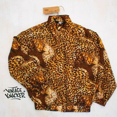 Vintage Retro Brown Cheater Print Crazy Festival Wind Breaker Jacket Shell Suit  • 0.99£