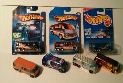 $9.99 • Buy Hot Wheels GMC Motor Home #524 Treasure Hunt Silver Loose And Carded Lot Of 7