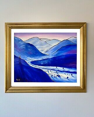 """£499 • Buy High Above The Vale By Pete Rumney Art Original Painting 2003 Signed -20""""x16"""""""