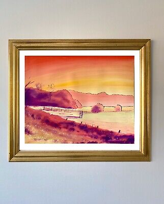 """£499 • Buy A Quiet Evening By Pete Rumney Art Original Painting 2003 Signed -20""""x16"""""""