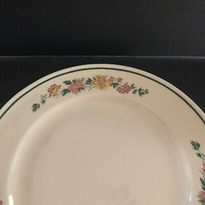 $10.38 • Buy Mayer China #285 Floral With Green Edge Dinner Plate 10  Across USA Restaurant
