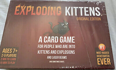 AU20.49 • Buy Exploding Kittens Card Game Brand New & Sealed  Original Edition  2-5 Players
