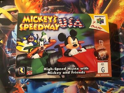 AU350 • Buy BRAND NEW!!!!!!!! Mickey's Speedway USA Racing Boxed Nintendo 64 Game! N64  NEW