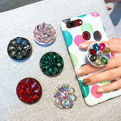 AU9.99 • Buy  360 Degree Diamond  Finger Ring Socket Mobile Phone Pop Up Phone Holder Stand