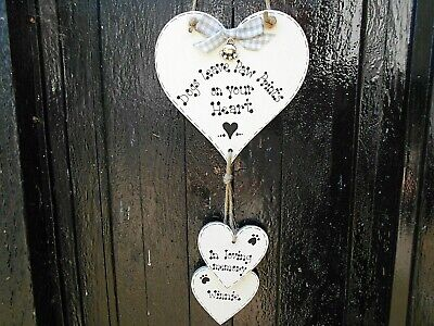 🐾 New Personalised Pet Dog Memorial Sign, Gift, Pet Loss Gift / Plaque/ Heart🐾 • 6.99£