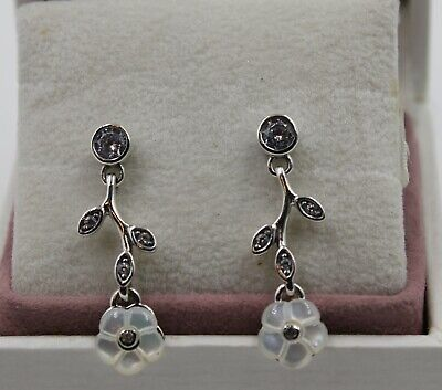 AUTHENTIC PANDORA Luminous Florals Drop Earrings 290699MOP  #1156 • 27.11£