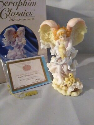 $54.99 • Buy Seraphim Classics 2000 Roman Cassidy Blessings From Above Porcelain Angel Statue