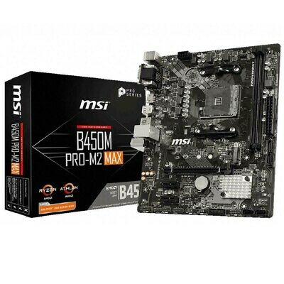 AU130 • Buy MSI B450M PRO-M2 MAX AMD AM4 Micro ATX Gaming Motherboard USB 3.2 Gen2 M.2