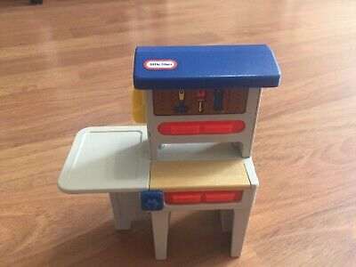 $15.99 • Buy Vintage Little Tikes Blue Roof Doll House Work Bench