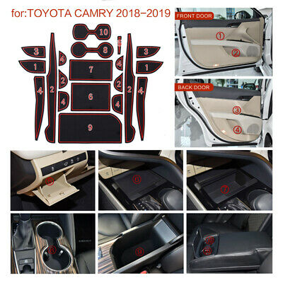 $15.99 • Buy Cup Holder Door Console Liner Accessories For 2018 2019 Toyota Camry