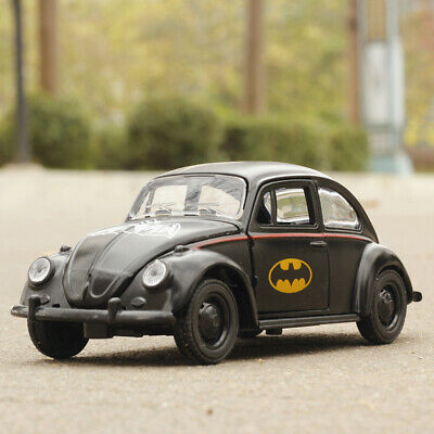 Batman Theme VW Beetle 1:32 Model Car Metal Diecast Gift Toy Vehicle Kids Black  • 9.83£