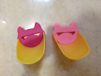 $14.99 • Buy Lot Of 2 Faucet Aqueduck Extender Kid Baby Pink Yellow Cat Bathroom Safety Cover