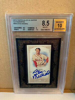 $67.99 • Buy 2012 Topps Allen & Ginter Stan Musial Autograph BGS 8.5 With 10 Auto