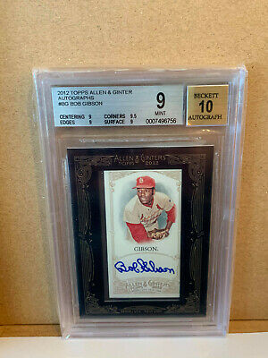 $20.50 • Buy 2012 Topps Allen & Ginter Bob Gibson Autograph BGS 9 With 10 Auto