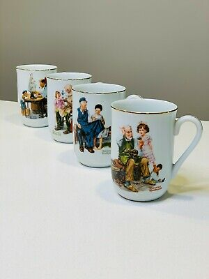 $ CDN12.99 • Buy Collection Set Of 4 Norman Rockwell Museum Porcelain Coffee Tea Mugs Cups 1982