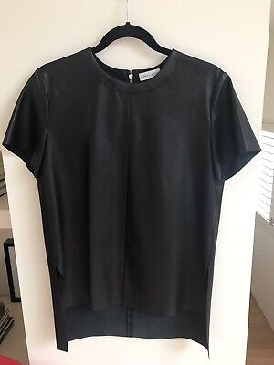 AU75 • Buy Scanlan & Theodore Black Leather Top Size 8