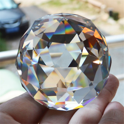 £4.49 • Buy Clear Cut Crystal25~40mm Sphere Faceted Gazing Ball Prisms Suncatcher Home Decor