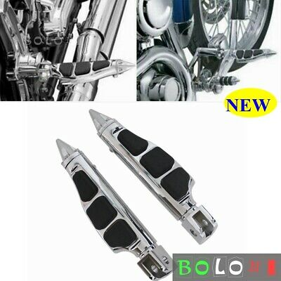 $29.44 • Buy Chrome Motorcycle Foot Pegs Stiletto Footrests Pedals For Suzuki M109R 2006-2013