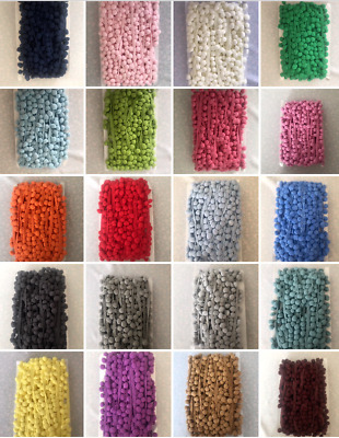 10mm Pom Pom Trimming Bobble Braid ~Various Colours~ Per Meter~ Premium Quality • 1.29£