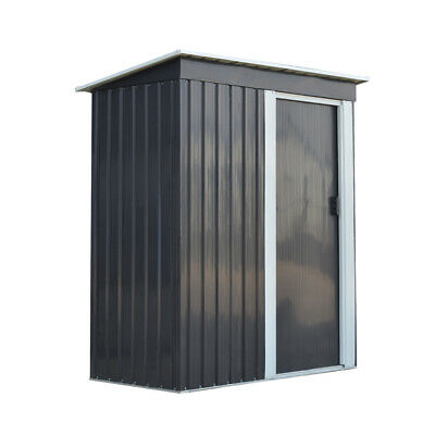 Metal Garden Shed 3FT X 5FT Pent Roof Garden Storage Tools Box House Cabinet • 185.99£