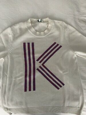 AU89 • Buy Kenzo Ladies Size S Whote Jumper Cotton With Logo In Pink