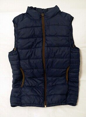 AU39.50 • Buy Pull & Bear - Down Vest - High Neck - Blue With Brown Zipper And Trims - Size S