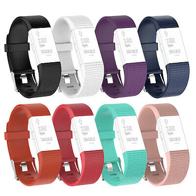 $ CDN5.22 • Buy For Fitbit Charge 2 Sprot Silicone Band Large Small Wristband Strap Metal Buckle