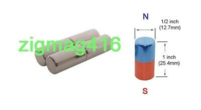 $ CDN9.50 • Buy D1/2  X 1  Thick, N52, Rare Earth, Neodymium, Cylinder Magnets - Pack Of 4