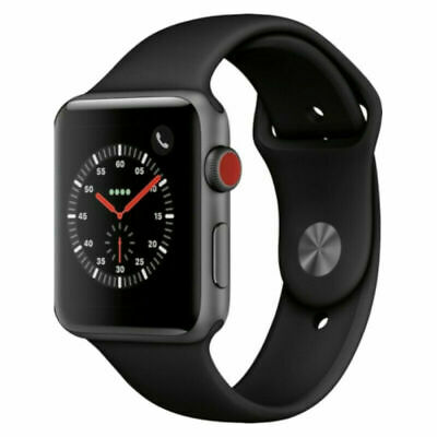 $ CDN373.60 • Buy Apple Watch Series 3 42mm Space Gray Aluminum Case Black Sport Loop (GPS +...