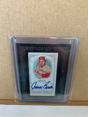 $35 • Buy 2012 Topps Allen & Ginter's Mini Framed Auto Johnny Bench Autograph