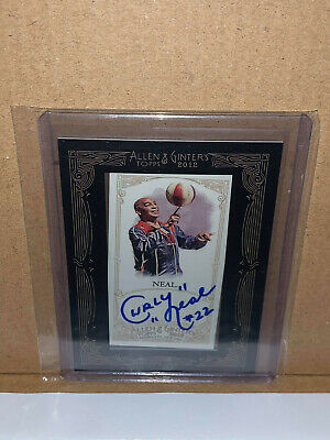 $29 • Buy 2012 Topps Allen & Ginter's Mini Framed Auto Curly Neal Harlem Globetrotters