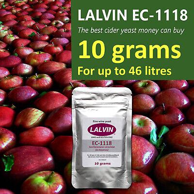Lalvin EC-1118 Champagne Yeast For Wine Or Cider 10g For 46 Litres SAME-DAY SHIP • 4.99£
