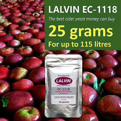 £7.25 • Buy Lalvin EC1118 Champagne Yeast For Sparkling Wine And Cider 25 Grams = 115 Litres