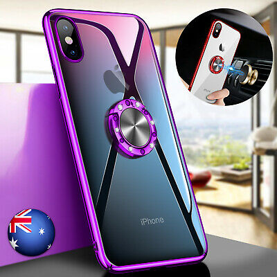 AU10.99 • Buy For IPhone XS Max XR X 8 7 6 Plus Hybrid Hard Case With Ring Buckle Holder Cover