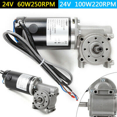 $79.15 • Buy Right Angle Electric Worm Gear Motor Door Gear Motor Encoder Brushed 24V DC SALE