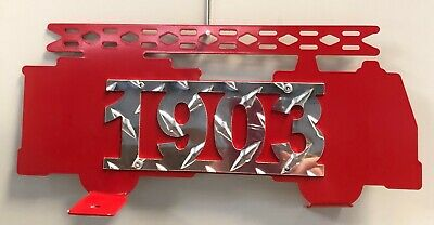 $64.99 • Buy Metal Firetruck Custom Address Sign Mailbox Topper Double Sided 11  X 5