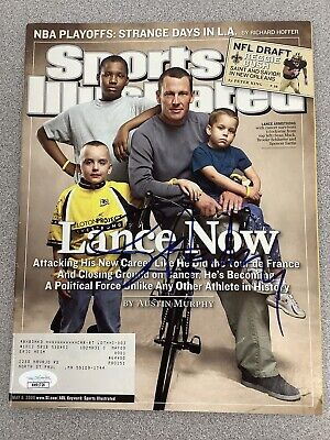 Lance Armstrong Signed Sports Illustrated Mag Cycling Autograph JSA 5/8/06 Tour • 180.89£
