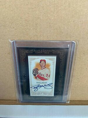 $53 • Buy 2012 Topps Allen & Ginter's Mini Framed Auto Roy Halladay Autograph
