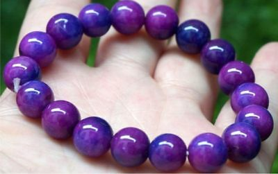 $1.25 • Buy Aaa 6mm Purple Africa Sugilite Gems Round Beads Bracelet 7.5