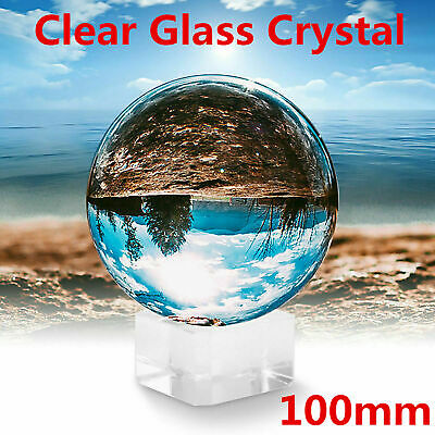 £10.39 • Buy Clear Crystal Ball | 100mm K9 Glass Lens Sphere | Photography & Decoration