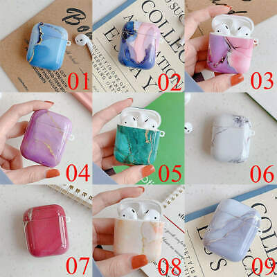 $ CDN6.42 • Buy For Apple AirPods Pro 2 & 1 Charging Case Marble Silicone Protective TPU Cover