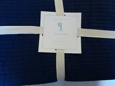 Pottery Barn Kids Kingston Navy Blue  Twin Quilt  New With Tag • 86.82£