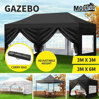 AU149.99 • Buy Mountview Gazebo 3x3/4.5/6 Pop Up Marquee Tent Wedding Canopy Outdoor Camping