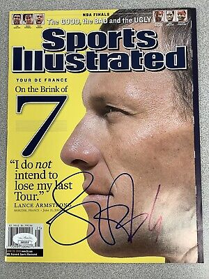 Lance Armstrong Signed Sports Illustrated Cycling Autograph JSA No Label 6/2005 • 180.89£