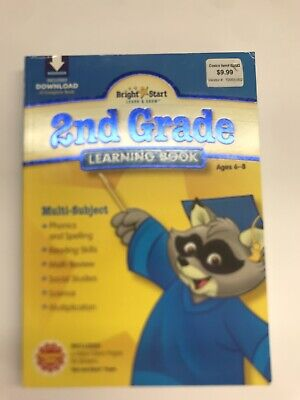 $ CDN13.21 • Buy Bright Start Learn & Grow 2nd Grade Learning Workbook 384 Pages Stickers-Flawed