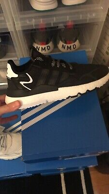 $ CDN110 • Buy *New* Adidas Originals Nite Jogger Boost Black White Men Running Shoes Size 9