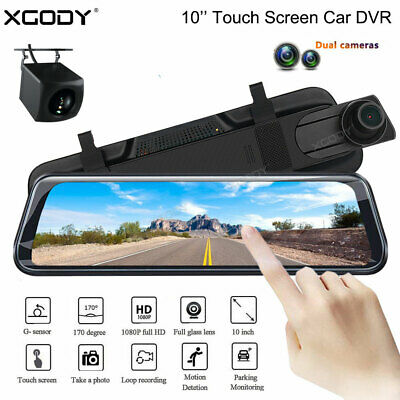 AU99.99 • Buy 10  FHD 1080P Dual Lens Car DVR Dash Cam Reversing Camera Mirror Video Recorder