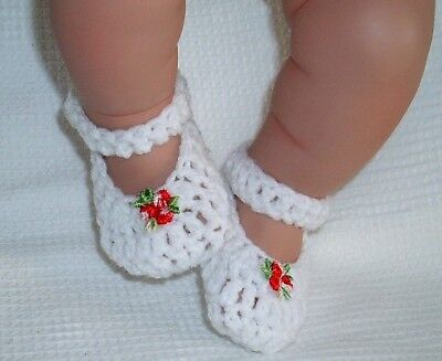 Dolly Togs White Shoes Premature Baby 3-5 Lbs 17-18  Reborn Doll 2½-3  Foot 1940 • 3.99£