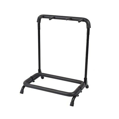 $ CDN33.72 • Buy 3-Slot Multiple Guitar Bass Stand Holder Stage Folding Rack For Electric /Flame